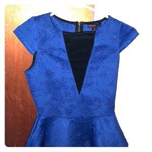 Blue peplum shirt